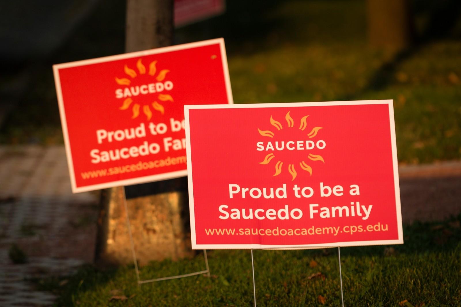 Saucedo elementary sign