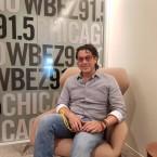 Chef Carlos Gaytan at WBEZ's Navy Pier studio.