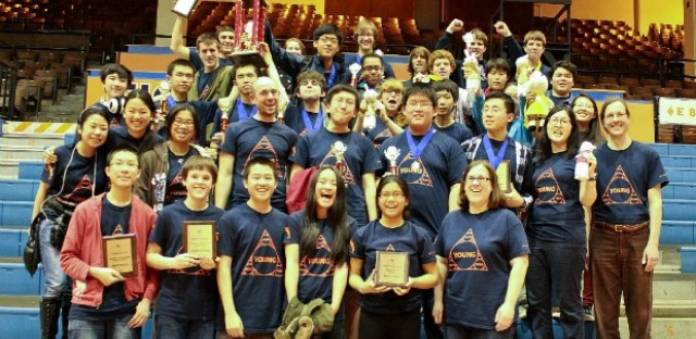 A snapshot of the Whitney Young Math Team at the state competition in May. Young is the first city high school to win the state championship in the most competitive division.