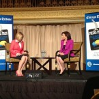 'Success and likability is positively correlated for men, negatively correlated for women,' said Facebook's Sheryl Sandberg, right, during an event at Chicago's Palmer House Hilton Thursday night.