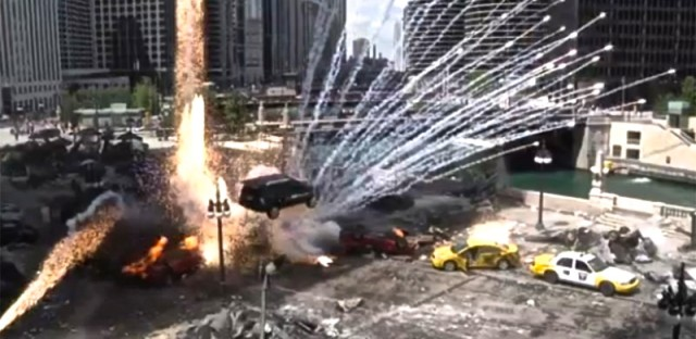 A shot from 'Transformers 3,' filmed in Chicago during the summer of 2010.
