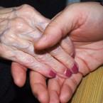 caregiver aging elderly hands