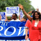 Cook County Clerk of the Circuit Court Dorothy Brown at the Bud Billiken Parade 2015