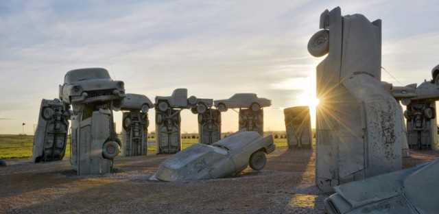 Carhenge lies in the path of totality for the Aug. 21 eclipse. Christian Heeb/Getty Images