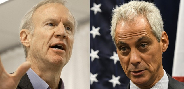 "Mayor Rahm Emanuel on Tuesday called Gov. Bruce Rauner the ""emperor (who) wears no clothes."" A spokeswoman for the governor insinuated that Emanuel has a ""Napoleon complex."""