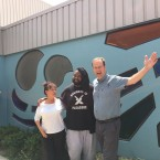 Musician Tunde Olaniran (center) joined Catalina Maria Johnson and Jerome McDonnell at the Flint Development Center on July 8, 2019.