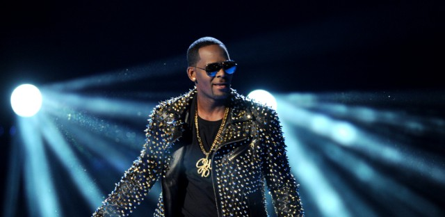 R. Kelly performs at the BET Awards at the Nokia Theatre on Sunday, June 30, 2013, in Los Angeles.
