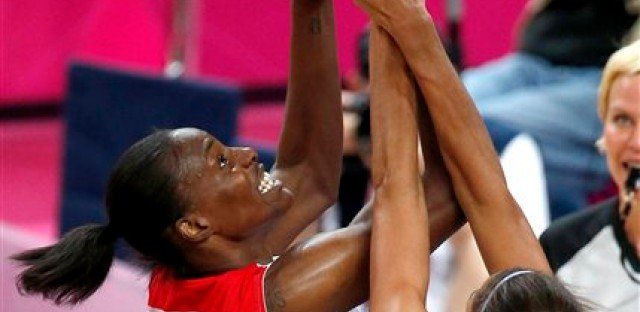 Sylvia Fowles in the gold medal game versus France.