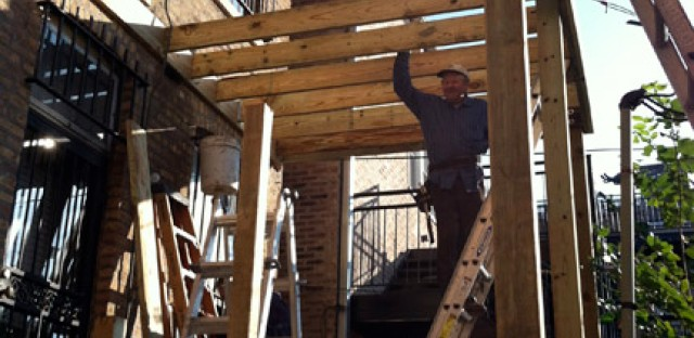 After the tragic porch collapse in 2003 and the city strengthened the building code, most porches in Chicago needed improvements or total rebuilds to get up to code.