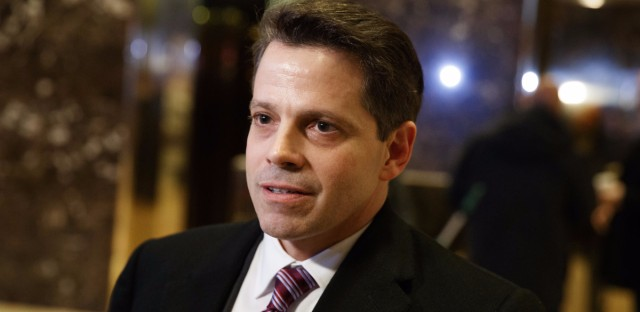 Anthony Scaramucci, an adviser to President Trump, was the subject of a story posted to CNN.com that was eventually retracted. Three journalists resigned over the story, and CNN has apologized to Scaramucci. (Evan Vucci/AP)