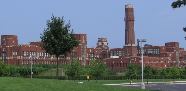 In the first year of a historic new school funding formula, the state board of education is pushing to adequately fund all Illinois school districts, including Chicago's. Lane Tech High School on Chicago's North Side is pictured here in August 2008.