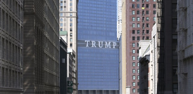 The Trump International Hotel and Tower is seen looking north on Wabash Ave. in Chicago's famed Loop Wednesday, Sept. 17, 2014. Chicago will always have the TRUMP sign on one of its tallest buildings to remind everyone in big, bold letters how Mayor Rahm Emanuel got trumped by The Donald, but now the mayor is proposing an ordinance to make sure nobody else can do the same.
