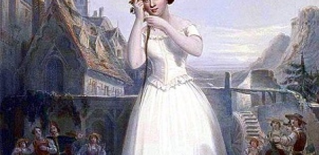 Jenny Lind in 'La Sonnambula'--she stayed in New York