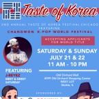 Taste of Korea Festival flier