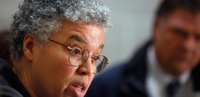 Cook County Board President Toni Preckwinkle had a proposed tax increase approved by a 9-7 vote Wednesday.