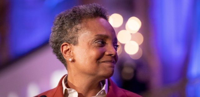Lori Lightfoot celebrates her victory in the mayoral election at the Chicago Hilton in Downtown Chicago, on April 2, 2019. On Friday, Lightfoot's transition team released a plan for her first term.