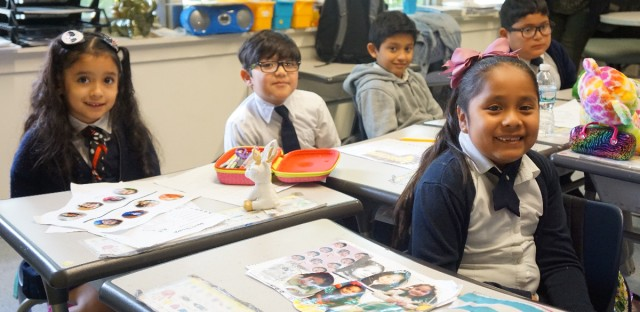 Acero's Zizumbo elementary first-graders are in their second year of the dual language model the network is trying to implement.