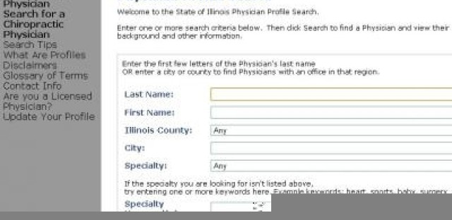 Requested additions to the new Illinois doctor database