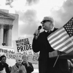 Cleve Jones speaks outside the Supreme Court in June 2013.