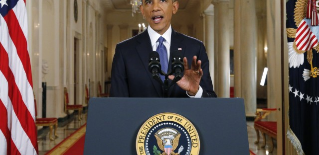 President Obama announces executive actions on U.S. immigration policy during a nationally televised address from the White House in November 2014.