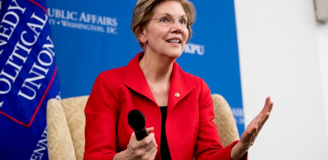 On Nov. 29, 2018 Sen. Elizabeth Warren, D-Mass., answered questions at the American University Washington College of Law in Washington, after delivering a speech on her foreign policy vision for the country. Warren is creating an exploratory committee to run for U.S. President.