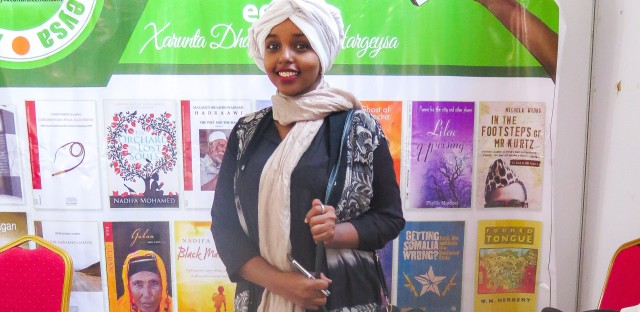 """Hamdi Ali Musa saw her first book when she was 10. Now 25, she's one of Hargeisa's only librarians. """"A revolution has been happening in publishing books, reading, writing and literature,"""" she says."""