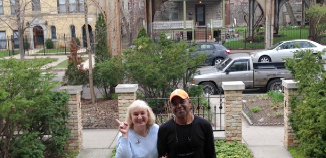 Mary and Floyd have owned a yellow house off the curve of a Brown Line train for the last 25 years. Mary says she has a love-hate relationship with the train.