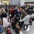 """Only a few of these passengers will be able to get flights out of San Francisco, depending on how many miles they fly and their """"value"""" to the airline."""