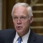 "Sen. Ron Johnson, R-Wis., seen at a Senate hearing earlier this year, said he has ""no problem"" banning bump stocks."