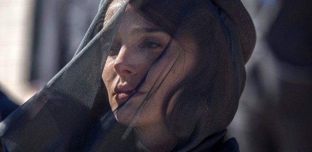 "This image released by Fox Searchlight shows Natalie Portman as Jackie Kennedy in the film, ""Jackie."""