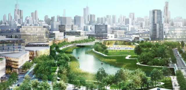 A rendering of Lincoln Yards.