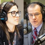 From left, WBEZ City Hall reporter Becky Vevea, WBEZ state politics reporter Dave McKinney, and Chicago Tribune columnist Heidi Stevens.