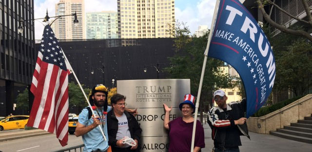 Trump supporters at protest