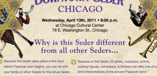 Star-studded, not-free-for-all downtown seder