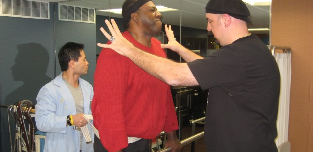 Former NBA player fights paralysis with an old Chicago teammate by his side