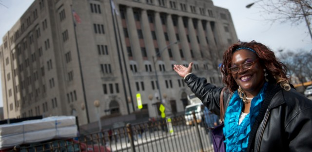 Latina Douglas outside of Mental Health Court in Cook County