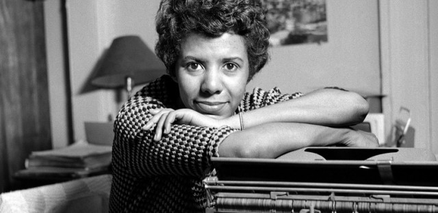 "Playwright Lorraine Hansberry, author of the play ""A Raisin In The Sun"", poses for a portrait in her apartment in 1959 in New York."