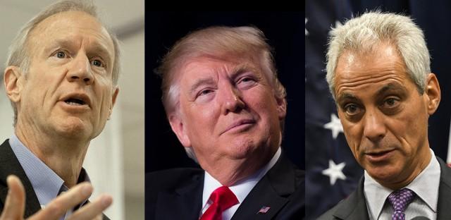 Rauner, Trump, Emanuel