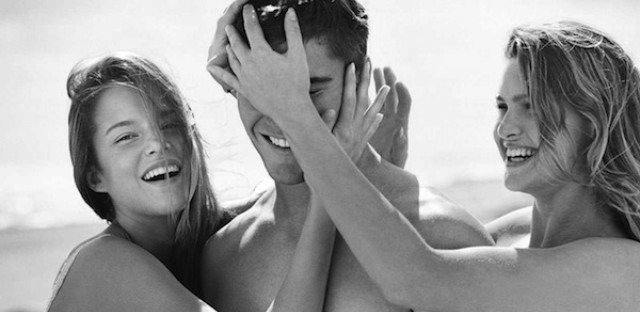 An Abercrombie & Fitch ad.