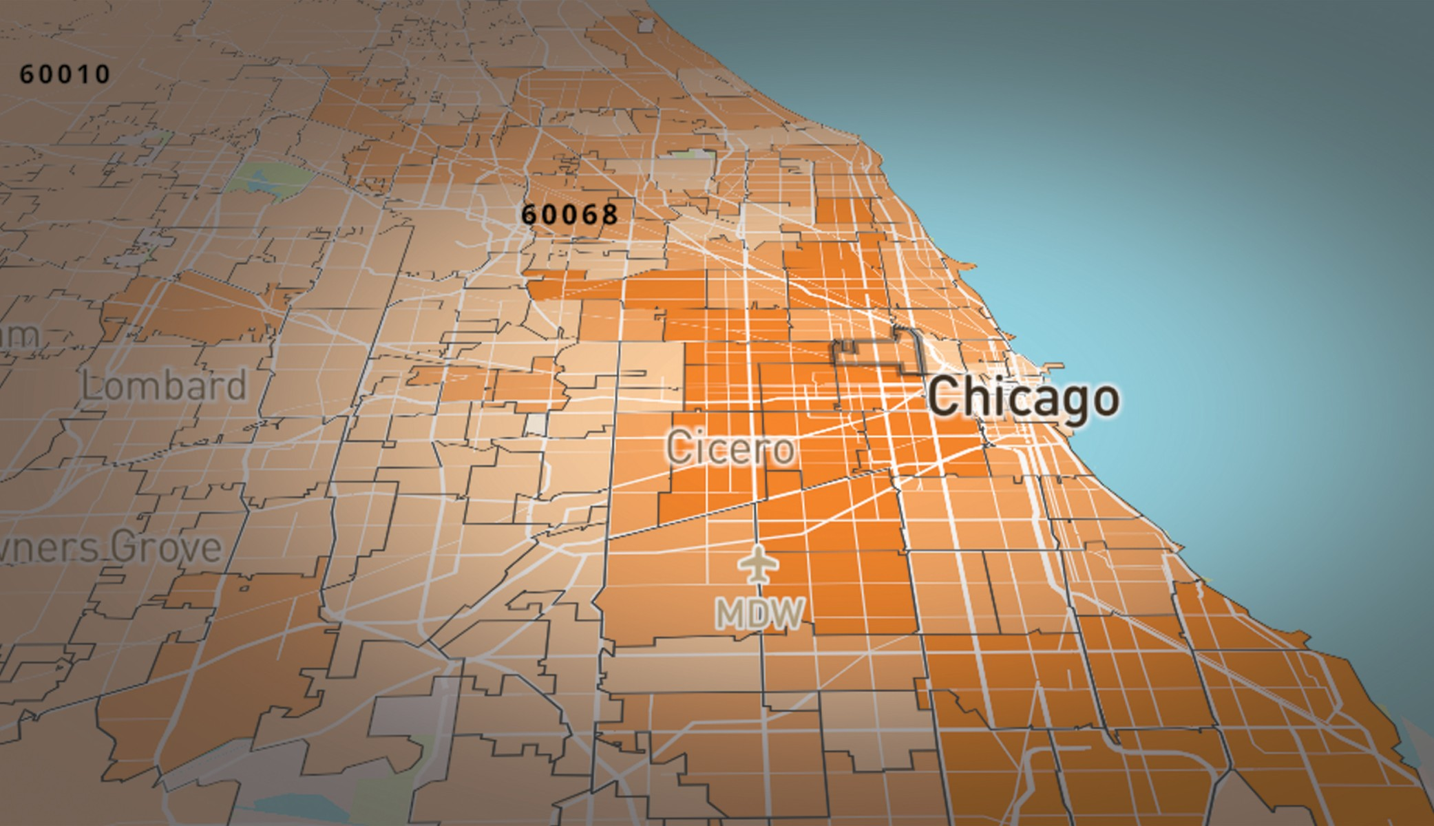 Map By Zip Code Of Coronavirus Covid 19 Cases Illinois Wbez Chicago