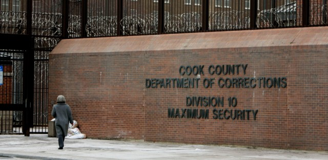 An entrance to the Cook County Jail in Chicago.