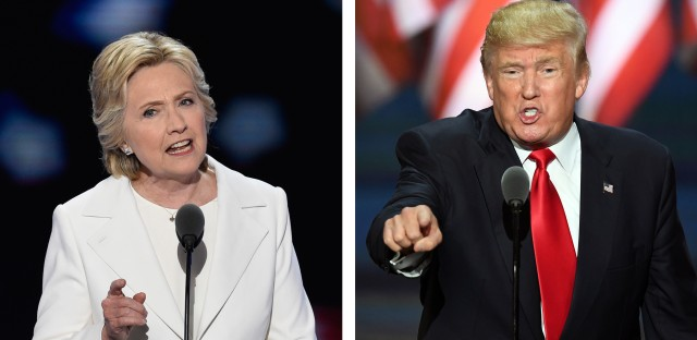 Hillary Clinton gives a speech Thursday, the final day of the Democratic National Convention, and Donald Trump speaks on July 21, the last day of the Republican National Convention.