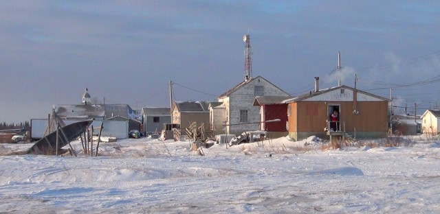 The isolated Cree community of Attawapiskat — shown several years ago, in a photo by the Toronto Star — struggled all winter with a high rate of suicide attempts.