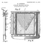 "Mary Anderson's illustration of her 1903 patented ""window cleaning device."""