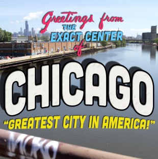 Center of Chicago Postcard