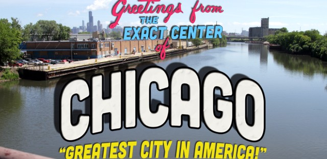 Center of Chicago Postcard