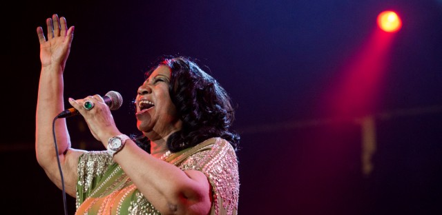 Aretha Franklin performed during McDonald's Gospelfest 2013 at the Prudential Center in Newark, N.J. She passed away Thursday at the age of 76.