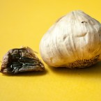 Black garlic: A number of chemical processes transform this humble ingredient during aging. For instance, the garlic picks up caramel notes during browning. Hints of dried fruit come out. And natural microbes on the garlic bulb can ferment, creating more distinct flavors.