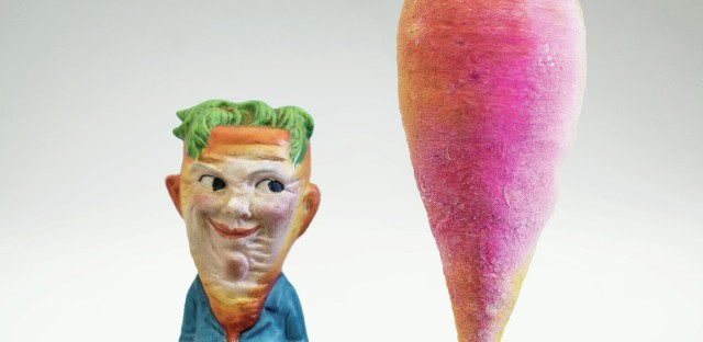 This 115-year-old carrot is the oldest ornament in Mackay's collection. It belonged to her grandfather.