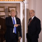 Retired Marine Corps Gen. John Kelly (right) has been tapped by President-elect Donald Trump to lead the Department of Homeland Security. The two are shown here before their meeting at Trump International Golf Club last month in Bedminster Township, N.J.